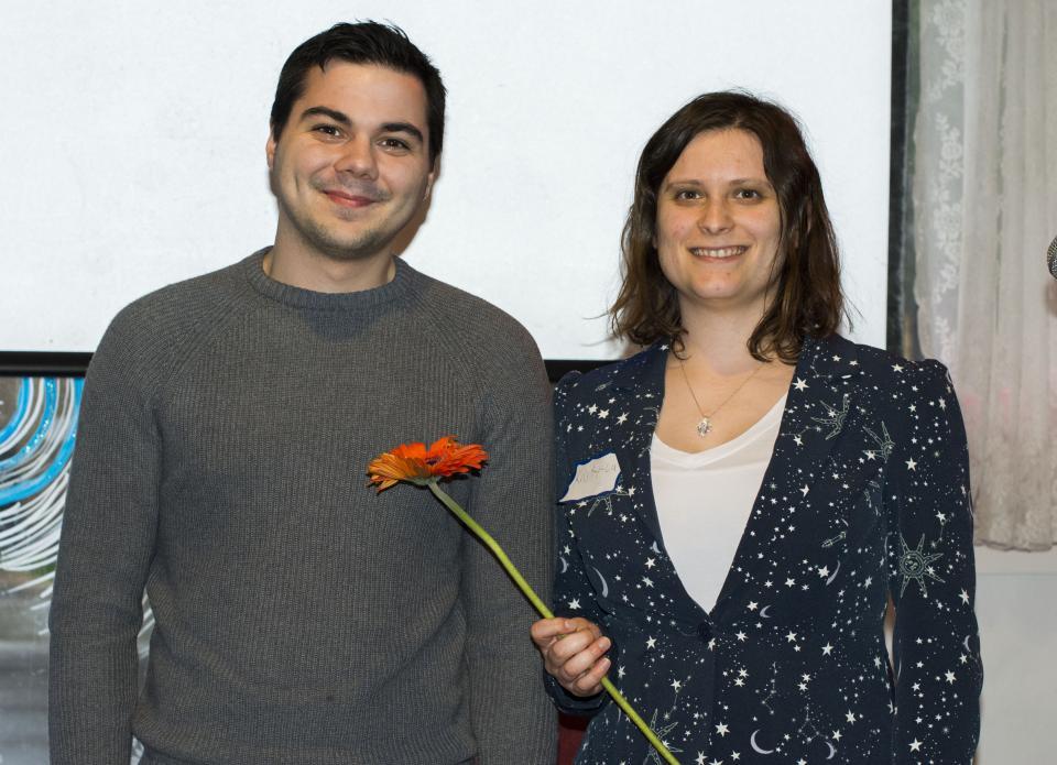 Kristy Lu and volunteer